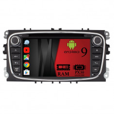 NAVIGATIE FORD FOCUS MONDEO S MAX ANDROID 9 Quadcore 2GB RAM CU DVD 7 INCH AD BGX09