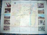 Harta Economica a Judetului Braila 1985 ,cu ilustratii ,dim.=85x61cm