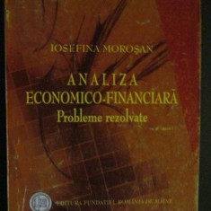 Analiza economico-financiara- Probleme rezolvate