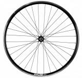 Roata Bicicleta Fata Atlas 28 , Profil Dublu Culoare Natur Negru, Cnc, Spite Otel Nichelate, Butuc Quando Kt-A15F, Qr, 32 H