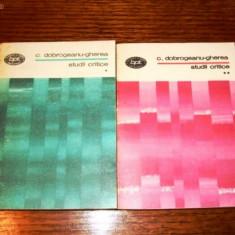 Dobrogeanu gherea de studii critice bpt 2 volume bpt