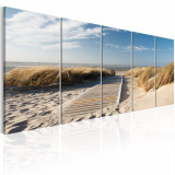 Tablou canvas 5 piese - Vacanta la mare - 225x90 cm, Artgeist