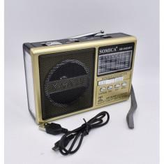 Radio cu lanterna, acumulator si mp3