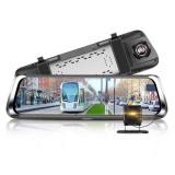 "Cumpara ieftin Camera Auto Tip Oglinda Techstar® B30, Dubla, LCD 10"" Inch Touch Screen, 2K, 1440P + 1080P, H265, Night Vision, Camera Marsarier"
