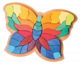 Fluturele Curcubeu - puzzle senzorial si creativ