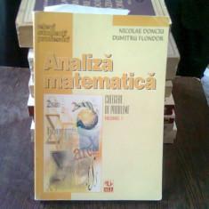 ANALIZA MATEMATICA - NICOLAE DONCIU CULEGERE DE PROBLEME, VOL.I