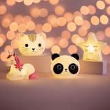 Lampa de veghe Led cu baterii Rainbow Unicorn