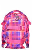 Rucsac Herlitz Wave Cu Doua Compartimente, Compartiment Pentru Laptop, 41 x 30 x 21 Cm, Motiv Pink Checkers