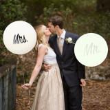 Balon gigant inscriptie Mrs, diametru 36 inch, petrecere nunta, latex