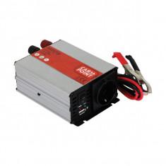 Invertor de tensiune auto Carpoint 12V-230V 300W 50Hz cu protectii la supra-sarcina , scurt-circuit, Port USB