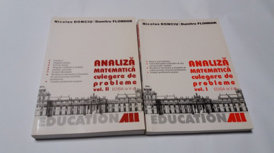 Analiza matematica CULEGERE DE PROBLEME Nicolae Donciu si Dumitru Flondor 2 VOL foto