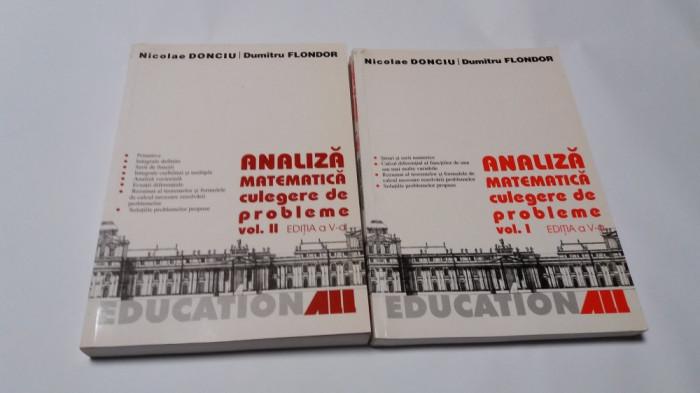 Analiza matematica CULEGERE DE PROBLEME Nicolae Donciu si Dumitru Flondor 2 VOL