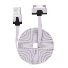 Cablu Date & Incarcare Plat APPLE iPhone 4 (30 Pini) - 2 Metri (Roz Pal)
