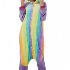 PJM133-100 Pijama pufoasa intreaga cu model Rainbow Panda