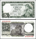 = SPANIA – 5 PESETAS – 1954 – UNC =