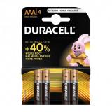 Set 4 baterii Duracell Basic, tip AAA