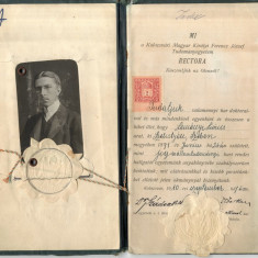 Carnet 1910 Act Vechi Cluj-Napoca Kolozsvár Universitatea Franz Joseph din Cluj