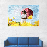 Tablou Canvas, Lalele galbene, Peisaj - 20 x 30 cm