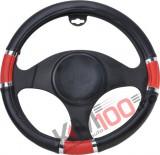 Husa volan Chrome Ring Red material cauciucat diametru 37-39cm - BA-8716