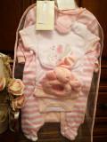 Set 8 piese bebelus - fetita, 75x100cm, Alb