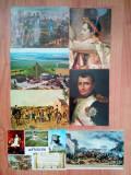 Lot 6 buc. carte postala vechi vintage Napoleon Waterloo Belgia