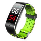Cumpara ieftin Bratara Fitness Techstar® Q8S Verde, 0.96 inch IPS, Alerte, Monitorizare Cardiaca, Tensiune, Oxigenare, Bluetooth 4.0