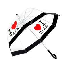 Umbrela automata, diametru 85 cm, transparenta