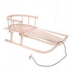 Sanie pentru copii cu spatar detasabil, din lemn, 90x32x21cm