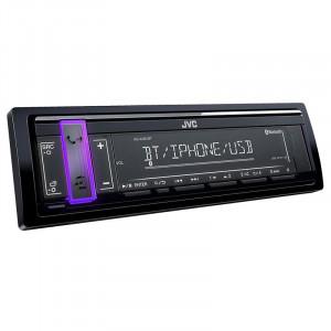 Radio CD Player auto JVC, Media receiver, Bluetooth, USB, Negru