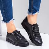 Pantofi dama sport piele naturala negri Ranidia-rl