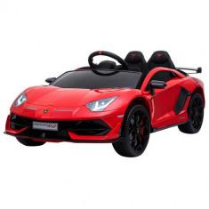 Masinuta Electrica Lamborghini Aventador SVJ cu Roti EVA Red