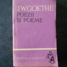 J. W. GOETHE - POEZII SI POEME