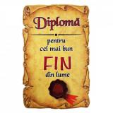 Magnet Diploma pentru cel mai bun FIN din lume, lemn, Alexer