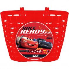 Cos bicicleta Cars 3 Seven, fixare rapida si usoara, Rosu