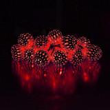 Ghirlanda luminoasa 20 globuri LED, 4.8W, lumina rosie, 2.85 m, IP20, Well