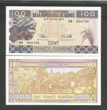 GUINEEA  GUINEA  100 FRANCI  FRANCS  2015  UNC  [1]  P- 47A  ,  necirculata