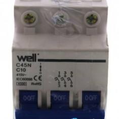 Siguranta automata de retea tripolar 10A Well