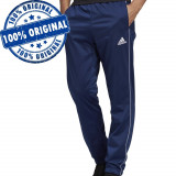 Pantalon Adidas Core pentru barbati - pantaloni originali - conici, Albastru, Lungi, Poliester