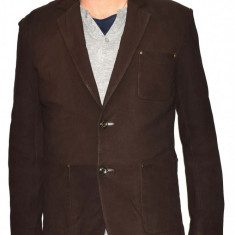 Haina barbati, din piele naturala, marca Kurban, 9-02-95, maro XL