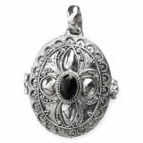 Pandantiv - medalion pentru poza argint cu onix K118O