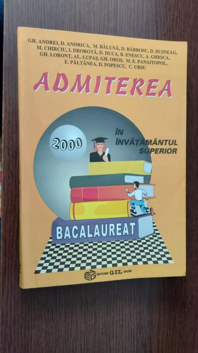 ADMITEREA IN INVATAMANTUL SUPERIOR BACALAUREAT -ANDREI  BARBOSU ,GHIOCA