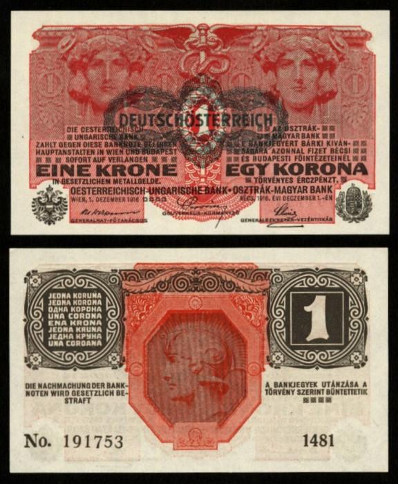 UNGARIA AUSTRIA 1 KORONA COROANA 1916 UNC necirculata