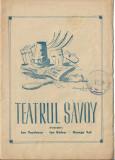 Program Teatrul Savoy Bucuresti 1946