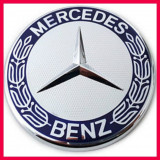 Emblema / Logo / Sigla / Insigna capota MERCEDES BENZ 57 mm-albastru
