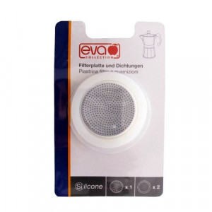 EVA Blister filtrugarnituri silicon Moka aluminiu 6 cesti