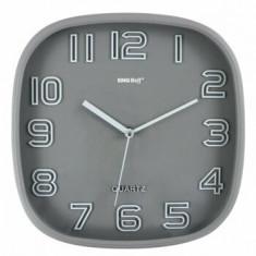 Ceas de perete, KingHoff, mecanism silentios, KH-1018-SV, Gri