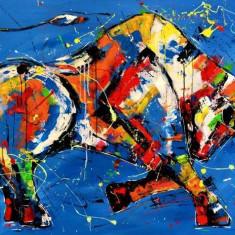 Piotr Piskorz - On the catwalk , ulei pe pinza , 80 x 120 cm, Animale, Altul