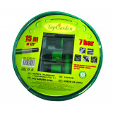 Cumpara ieftin Furtun de gradina Top Garden, 3 straturi, 1/2 inch, 15 m, 4 accesorii, Verde