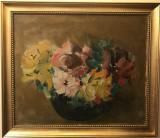 Vas cu flori - Harta Felix Albrecht, Natura statica, Ulei, Altul