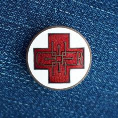 Insigna per. regalista - Crucea Rosie - Regina Elena - Medicina - Rara